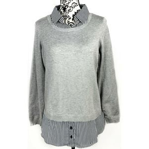 Adrianna Papell Blouse Layered Look Sweater